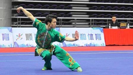 2018年全国武术套路冠军赛 男子长拳 009 吴忠(河北)并列第四名