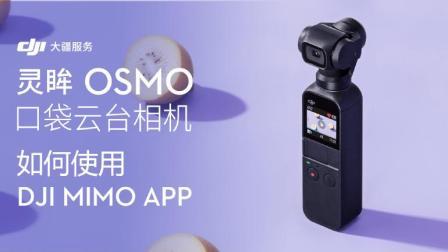 大疆DJI 灵眸OSMO Pocket 口袋云台相机 教程 - 如何使用APP