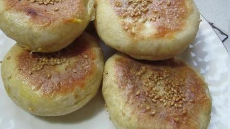 一个苹果, 一碗面, 一个平底锅, 做出外酥里嫩的苹果饼, 酸甜可口, 做法详细讲解