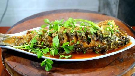 这才是红烧鲤鱼的正确做法, 学会这一招, 肉质香嫩入味有食欲