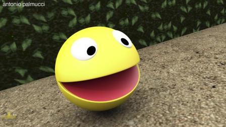 吃豆人: 游戏动画, 驴港世界中的吃豆人对比金刚