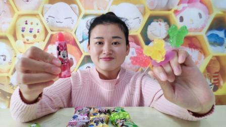 试吃超可爱的米奇戒指棒棒糖, 戴在手上吃糖果, 这也太社会了吧