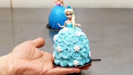《冰雪奇缘》艾莎和安娜迷你蛋糕, 比手掌还小! 要不要这么可爱?