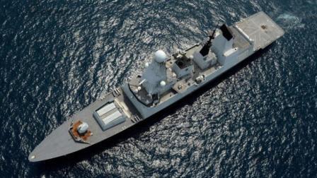 英国旗舰闯入克里米亚半岛48公里处