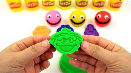 亲子英语-七个笑脸球橡皮泥玩具和惊喜蛋学习颜色的英语