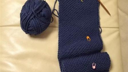 【金贝贝手工坊266辑】M118斜条纹围巾-毛线棒针棒针秋冬成人儿童围巾围脖-视频教程编织款式