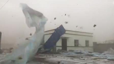 社会热点爆料 2018 12月 天昏地暗犹如世界末日 新疆伽师县刮起7-8级大风