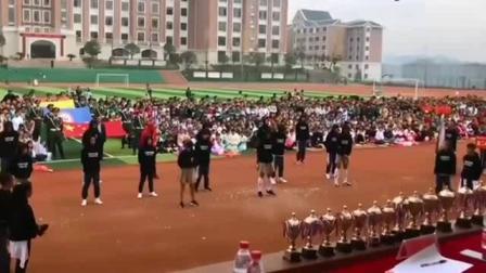 体育生越来越优秀了, 运动会开幕式上跳舞, 现场
