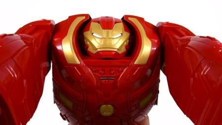 超级英雄钢铁侠轨道玩具和恐龙