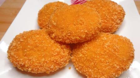一块南瓜, 一碗面粉, 不用一滴水, 教你做空心南瓜饼, 外酥里糯