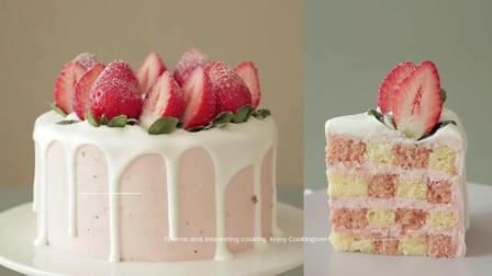哇! 如何制作草莓味的蛋糕!