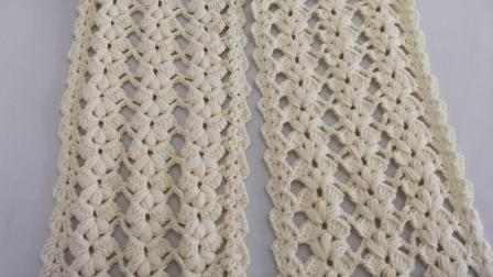 自带仙气的一款钩针围巾花样编织教程