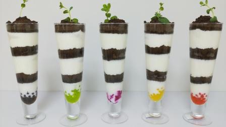 酸奶西米露酸奶水果杯酸奶木糠杯