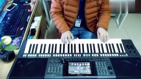 牛人小伙用电子琴演奏一首DJ版《站台》经典歌曲, 百听不厌