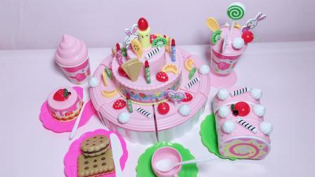 小猪佩奇手工DIY蛋糕坊, 动手装饰蛋糕切切乐