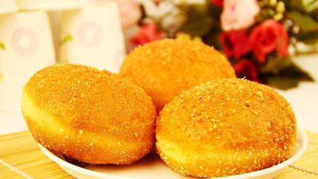 2分钟教你做油炸小面包, 松软如棉花, 好吃胜蛋糕, 一看就会
