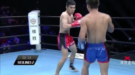 中国小将开场一拳撂倒对手, 结果遭反杀被打