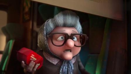 年轻人和老奶奶抢饼干吃, 结局很精彩, 幽默动画