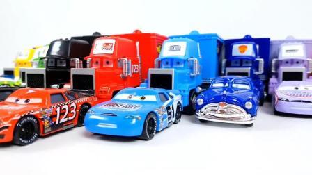 哇! 这么多的集装车都是什么颜色呀? 真是太好看了!