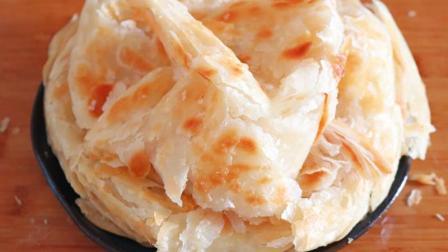 家常千层油饼的做法, 柔软劲道, 酥脆掉渣, 怎么都吃不够