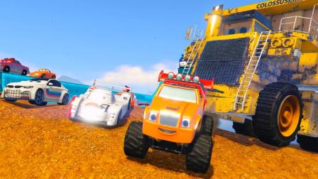 超酷! 钢铁侠开着赛车在海边的赛道上飞驰!