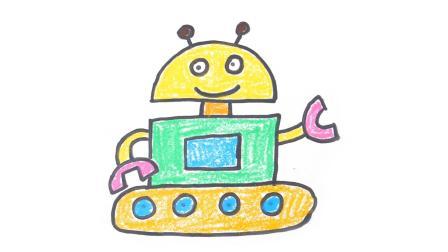 玩具梦工厂 简笔画乐园 简笔画之机器人