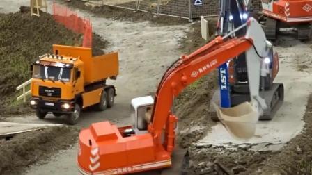 玩具车: 配合作业的各类工程车 这工程有点大啊