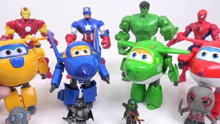 超级飞侠和超级英雄变身