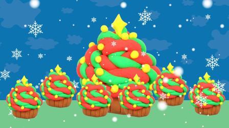 趣盒子手工课 培乐多彩泥圣诞树杯子蛋糕宝宝入门手工早教益智启蒙趣盒子亲子
