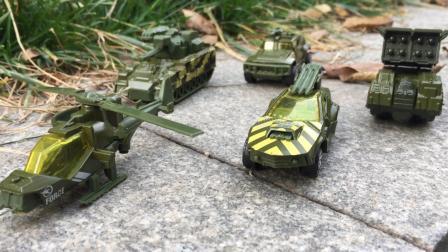 儿童亲子汽车玩具军团部队车队飞机坦克装甲车户外工程车表演视频