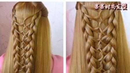 女神都是怎么编头发的, 更显气质的一款时尚发型, 美发造型盘发扎发技巧