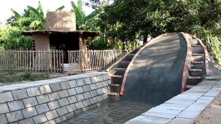 荒野生存 生存哥 建造游泳池及滑水道