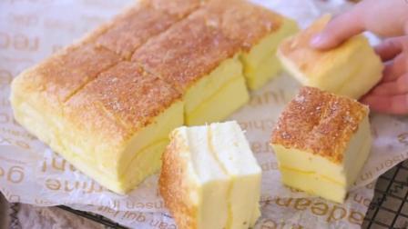 绵软细腻的古早味芝士蛋糕, 做法超简单, 美味无法阻挡, 和买的口感一样