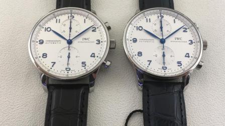 【真假对比】ZF万国葡萄牙计时葡计V2升级版对比正品-三维腕表