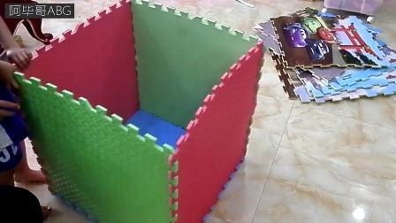 积木拼个箱子把自己装进去是什么样的感受? 小朋友你真行!