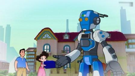 棉花糖和云朵妈妈:棉花糖看到回收机器人,变废为宝的最新科技!
