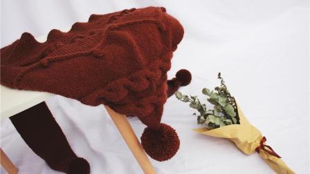 粗线编织帽子围巾一体式棒针新手零基础视频教程