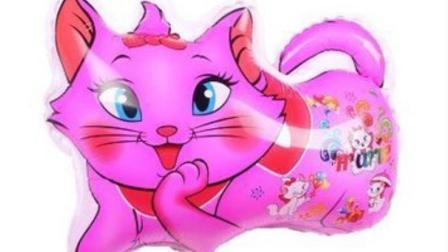 真假猫咪搞笑测试, 当家猫遇到一只氢气球形状的猫咪, 被一巴掌扇过去