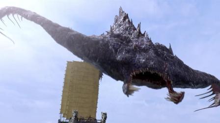 巨型怪兽降临长安, 分分钟完虐十万水军, 最后却被几条小鱼毒死了