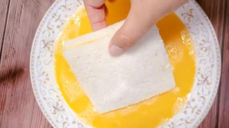 一根香蕉, 两片吐司面包, 制作一道老少皆宜的美味甜点!
