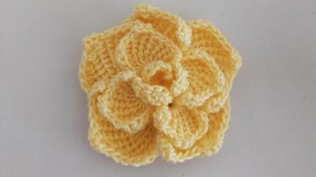 一款漂亮又特别的突尼斯钩针玫瑰花编织详细教程