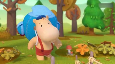 缇娜托尼:缇娜和托尼开启寻宝之旅,托尼背了个好大的包