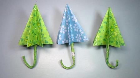 手工折纸教程: 漂亮小花伞的折法, 步骤简单易学