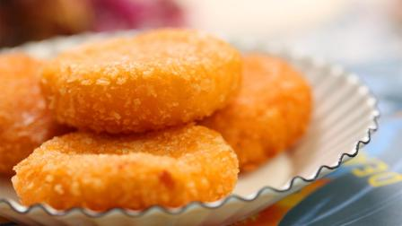 星厨课堂 第一季 黄金家常薯蓉饼这样炸,外皮酥脆内里糯糯的,口感极好