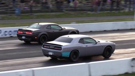 美国肌肉车直线加速比赛