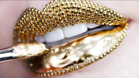 女子为了嘴巴好看, 在嘴唇上镶100颗钻石, 这种嘴巴你敢亲吗?