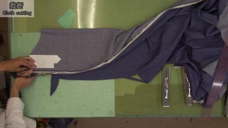 P1裁剪-牛仔衬衫制作-日式制衣-一起来缝纫