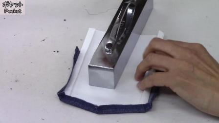 P2裁剪前立和底边-牛仔衬衫制作-日式制衣-一起来缝纫