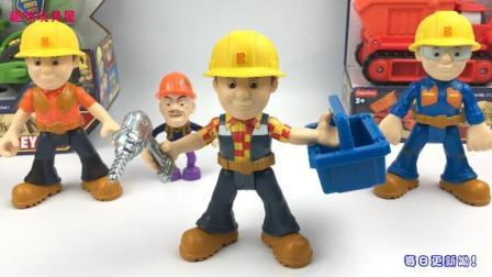 趣味玩具熊出没玩具 第一季 熊出没光头强介绍巴布工程师工程施工玩具