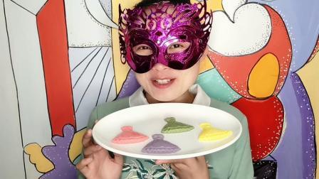 """妹子试吃""""芭蕾裙布丁"""", 高贵典雅散发迷人的果香, 吃起来超享受"""